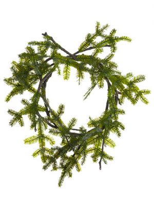 "24"" Glittered Spruce Pine Wreath Green"