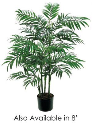 8' New Bamboo Palm Tree w/2414 Leaves in Pot Green