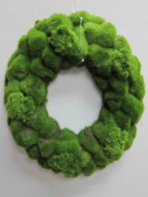 "15.5"" Large Moss Wreath Green"