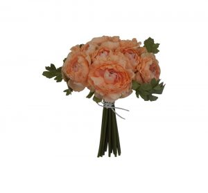 "Peach 12"" tall Ranunculus bouquet x 16"