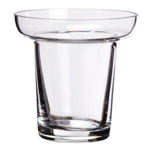 """4""""H x 3.88""""D Glass Candleholder"""