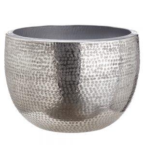 "14""H x 20""D Aluminum Platner Silver"