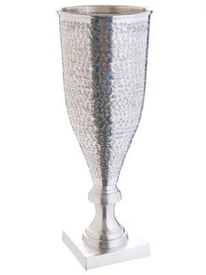 """22""""H x 8.5""""D Aluminum Urn Silver"""