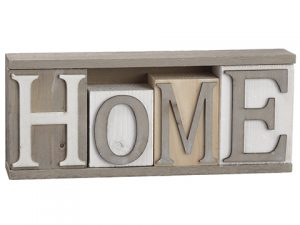 "4""H x 2""W x 9.5""L Home TableDecorWhite Gray"
