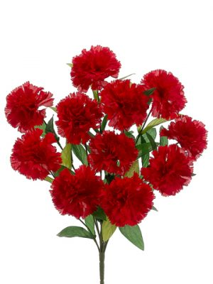"18"" Carnation Bush x11 Red"
