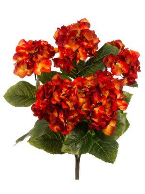 "19.5"" Hydrangea Bush x5 Rust"