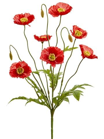 """15"""" Poppy Bush x6 Red"""