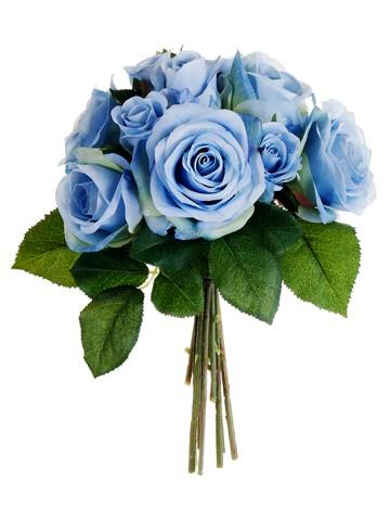 """9.5"""" Rose Bouquet Blue"""