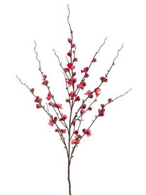 """45"""" Quince Blossom Spray Cerise"""