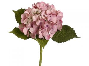 "19"" Hydrangea Spray with Water-Resistant Stem Antique Pink"