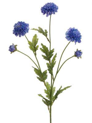 """27"""" Pompon Mum Spray Blue Delphinium"""