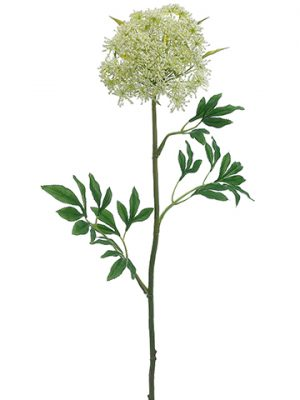 """31"""" Queen Anne's Lace Spray White Green"""