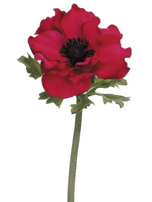 "15"" Anemone Spray x1 Red"