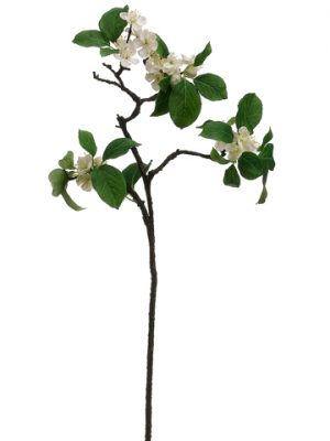 "26"" Apple Blossom Spray White"