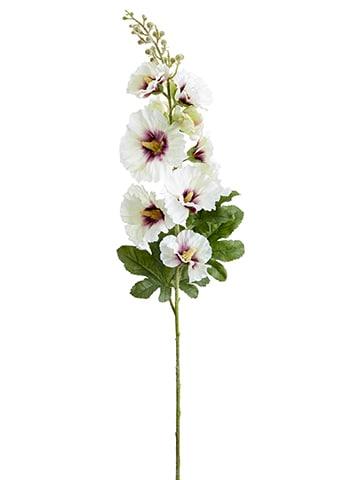 """36"""" Hollyhock Spray White Boysenberry"""