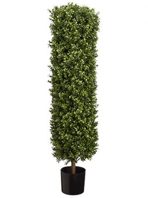 "41.25"" Round Boxwood Topiary in Pot Green"