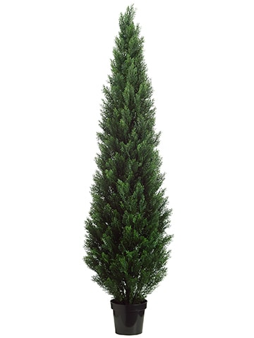 "84"" Cedar Topiary in Plastic Pot (Knock-Down Packing) Green"