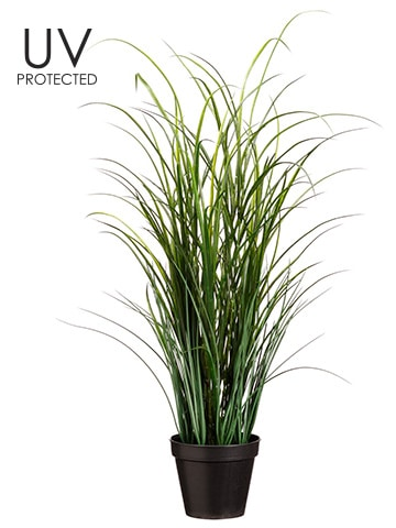 "36"" UV Protected Tall Grass in Pot Green"