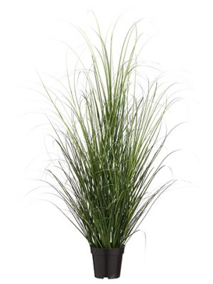 "48"" Grass Bush in Pot Two Tone Green"