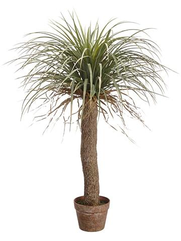 "38"" Desert Palm Tree inPlastic PotGreen Beige"