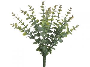 "15"" Soft PE Eucalyptus Bush x12 Green"