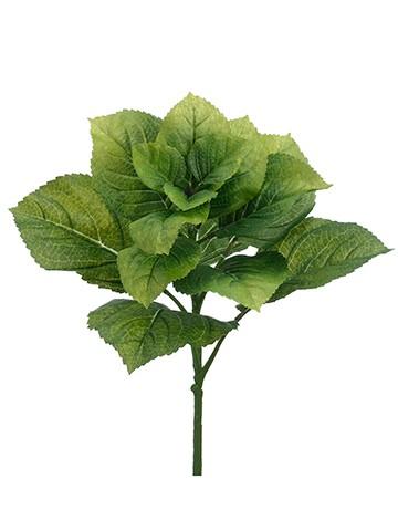 """19"""" Hydrangea Leaf Bush Green"""