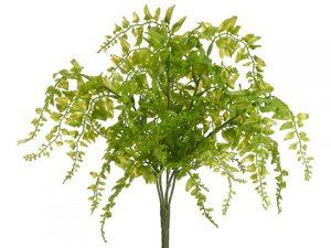 "15"" Soft PE Curly Fern Bushx5Light Green"