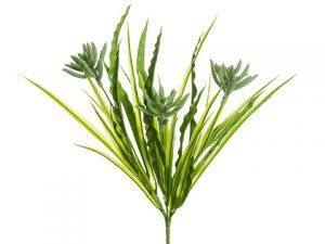 """12"""" Succulent/Grass Bush Green Gray"""