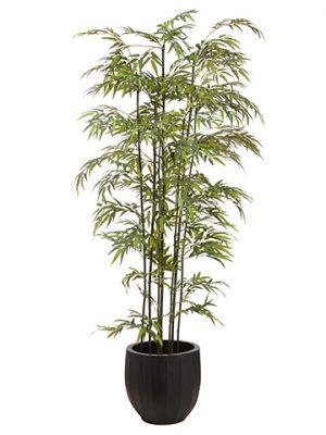 8' Bamboo Tree in Metal Pot Green