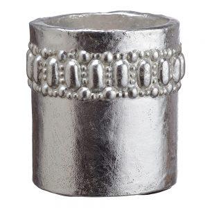 "4""H x 3.5""D Cement Pot Silver"