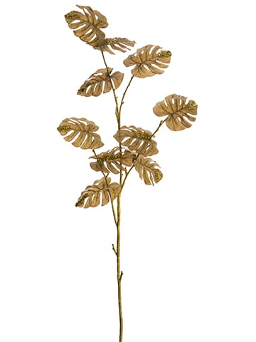 """45"""" Split Philodendron Spray Brown Gold"""