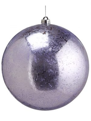 "10"" Mercury-Look Plastic Ball Ornament Purple"