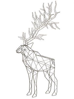 "48"" Reindeer Antique Silver"