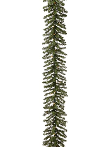 "9'Lx12""W Balsam Pine Garland x240 With 50 Clear Lights Green"