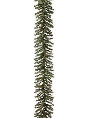 "9'Lx12""W Balsam Pine Garlandx240 With 50 Clear LightsGreen"