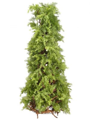 "40"" Soft PE Cedar Cone-Shaped Topiary Green"