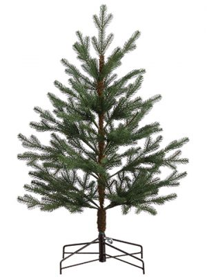 2.5' Pine Table Top Tree x360 in Metal Stand Green