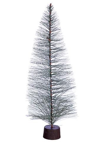 "14""H x 6""D Mini Tree onWood-Like Plastic StandGreen"