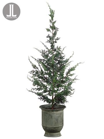 """64"""" Cedar Topiary in Tin Pot Green"""
