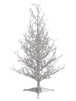 "24"" Silver Glit. ChristmasTreeSilver"
