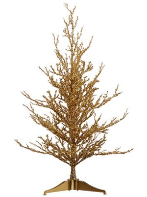 "24"" Gold Glit. Christmas Tree Gold"
