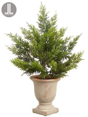 "19"" Juniper in Cement Urn Green"