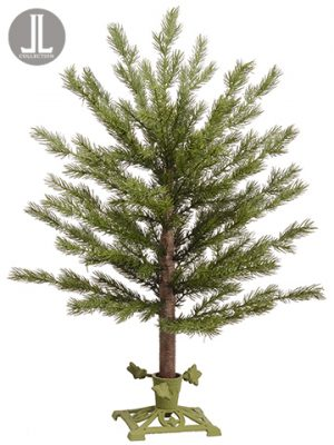 "24"" Pine Tree With Metal Stand Green"