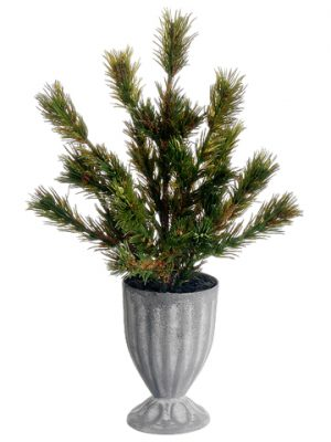 "11"" Pine Tree in Tin Pot Green"