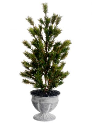 "18"" Pine Tree in Tin Pot Green"