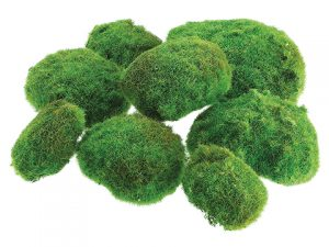 "12""W x 12""L Moss Ball in Bag (2 Large 3 Medium 3 Small) W/Header card/Bag Green"