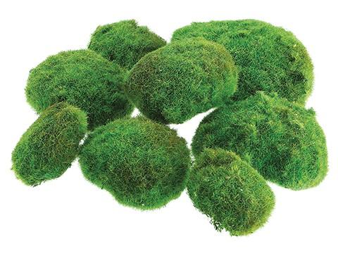 "12""W x 12""L Moss Ball in Bag (2Large 3 Medium 3 Small)W/Header card/Bag Green"