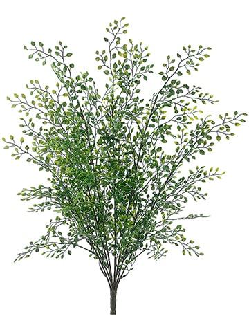 """21"""" Mini Leaf Plastic Bush x9 Green"""