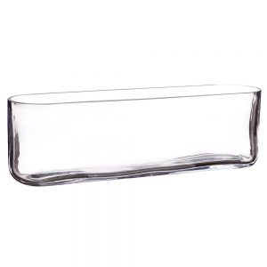 "13.5""Lx3.5""W x 4""H Oval Vase Clear"