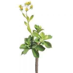 """9"""" Soft Plastic FloweringEcheveria PickGreen Yellow"""
